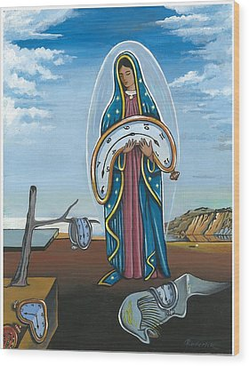 Guadalupe Visits Dali Wood Print by James Roderick