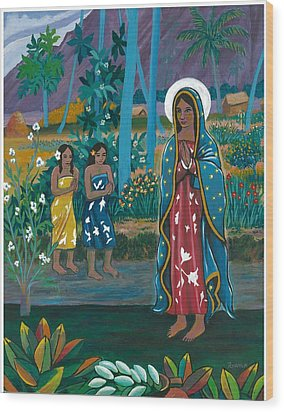 Guadalupe Visits Gauguin Wood Print by James Roderick