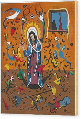 Guadalupe Visits Miro Wood Print by James Roderick