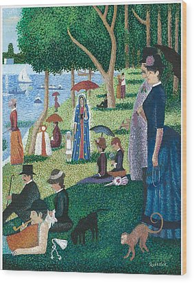 Guadalupe Visits Seuart Wood Print