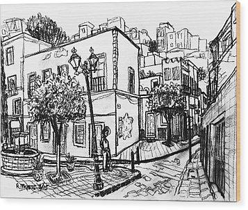 Guanajuato Street Wood Print by Rich Travis