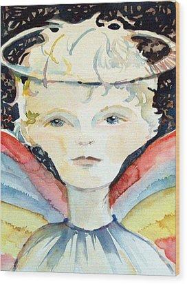Guardian Angel Wood Print by Mindy Newman