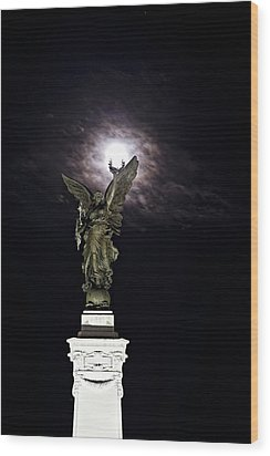 Guardian Angel Wood Print by Sarita Rampersad