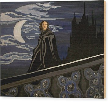 Wood Print featuring the painting Guardian by Carolyn Cable