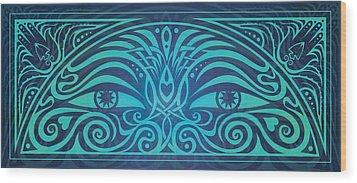 Guardian Gaze Wood Print by Cristina McAllister