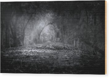 Guardian Of The Forest Wood Print by Mark Andrew Thomas