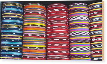 Guatemalan Textiles 2 Wood Print by Douglas Barnett