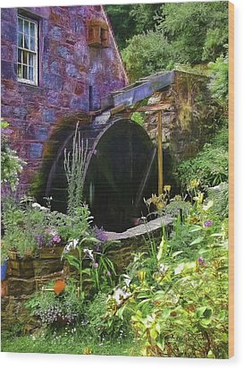 Guernsey Moulin Or Waterwheel Wood Print