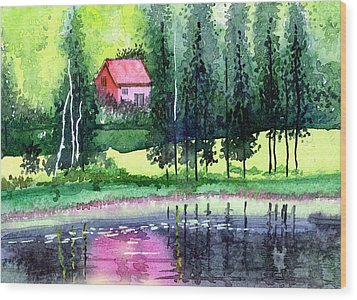 Guest House Wood Print by Anil Nene