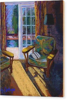 Guesthouse In Santa Fe Wood Print by Sandra Ortega