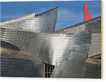 Guggenheim Museum Bilbao - 5 Wood Print by RicardMN Photography