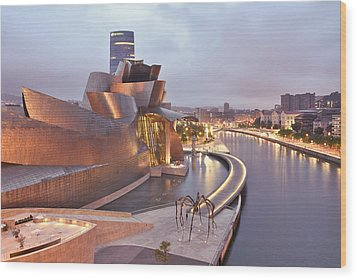 Guggenheim Museum Bilbao Spain Wood Print by Marek Stepan