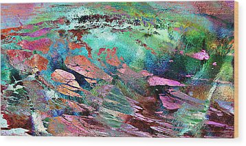 Guided By Intuition - Abstract Art Wood Print by Jaison Cianelli