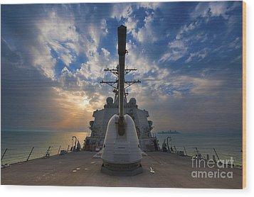 Guided-missile Destroyer Uss Higgins Wood Print by Stocktrek Images