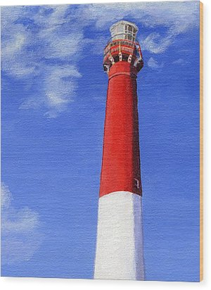 Wood Print featuring the painting Guiding Light by Lynne Reichhart