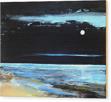 Guiding Light Wood Print by Toni Grote