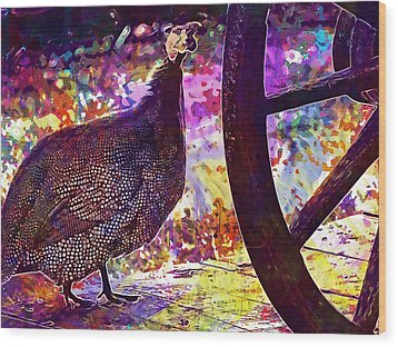 Guinea Fowl Guinea Fowl Chicken  Wood Print