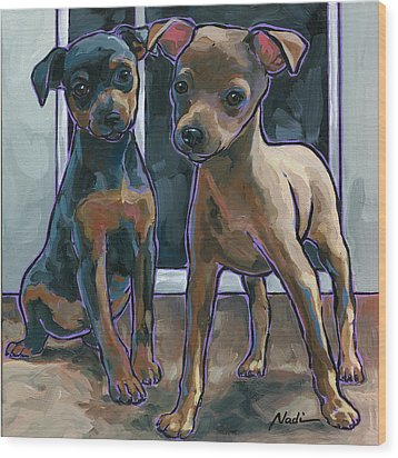 Guinness And Bailey Wood Print by Nadi Spencer