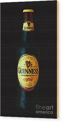 Guinness Wood Print by Wingsdomain Art and Photography
