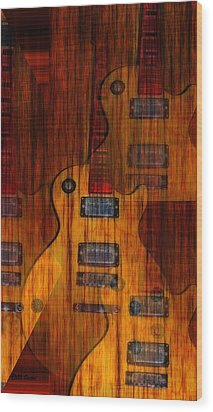 Guitar Army Wood Print by Bill Cannon