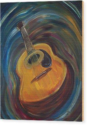 Guitar Wood Print by Clemens Greis