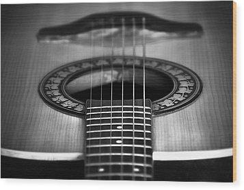 Guitar Close Up Wood Print by Svetlana Sewell