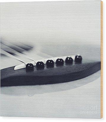 guitar II Wood Print by Priska Wettstein