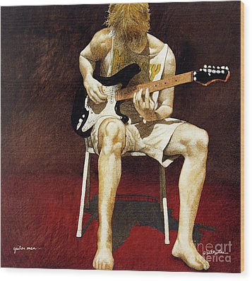 Guitar Man... Wood Print