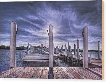 Gulf Coast Blues Wood Print by Evelina Kremsdorf