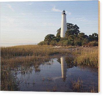 Gulf Coast Lighthouse2  Wood Print by Marty Koch