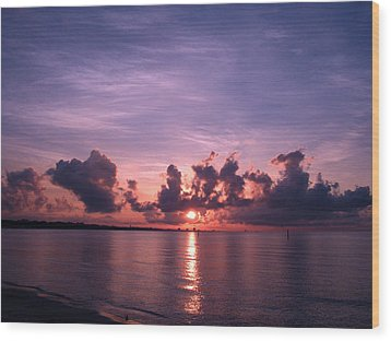 Gulf Coast Sunrise Wood Print by Brian Wright