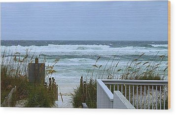 Wood Print featuring the photograph Gulf Coast Waves by Debra Forand