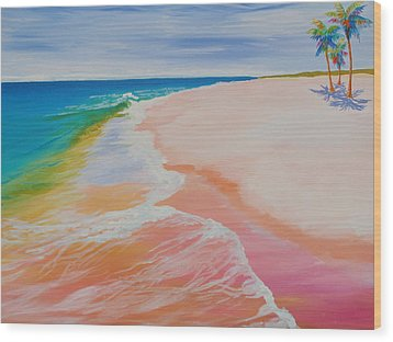 Gulf Side Wood Print by Anne Marie Brown