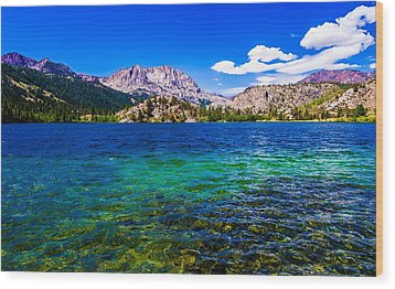 Gull Lake Near June Lakes California Wood Print