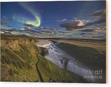 Gullfoss Iceland Wood Print