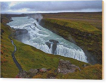 Gullfoss Waterfall #2 - Iceland Wood Print