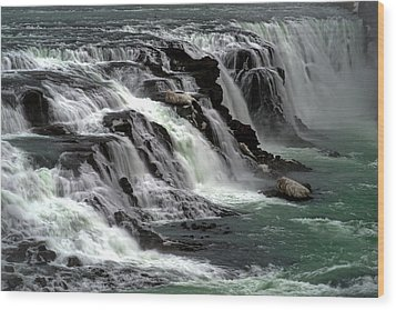 Gullfoss Waterfalls, Iceland Wood Print