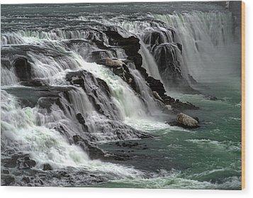 Wood Print featuring the photograph Gullfoss Waterfalls, Iceland by Dubi Roman
