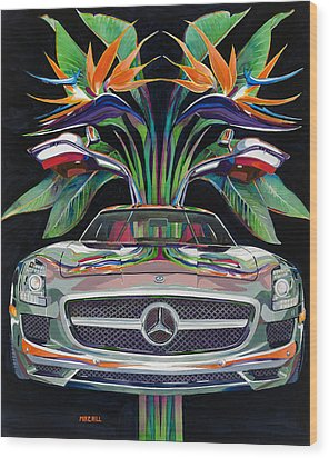 Gullwing Birds Of Paradise Wood Print by Mike Hill