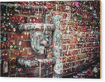 Wood Print featuring the photograph Gum Drop Alley by Spencer McDonald