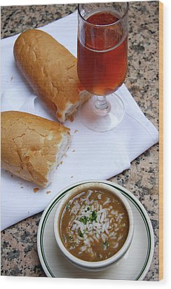Wood Print featuring the photograph Gumbo Lunch by KG Thienemann