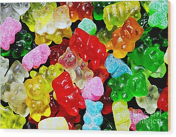 Wood Print featuring the photograph Gummy Bears by Vivian Krug Cotton