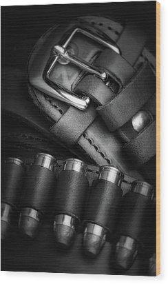 Wood Print featuring the photograph Gunbelt by Tom Mc Nemar