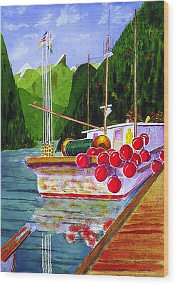 Gunboat Slough Bouys Wood Print by Buster Dight