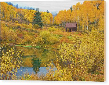 Gunnison Reflection  Wood Print