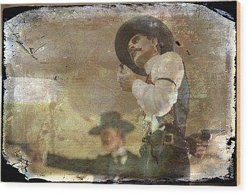 Gunslinger II Doc Holliday Wood Print by Toni Hopper