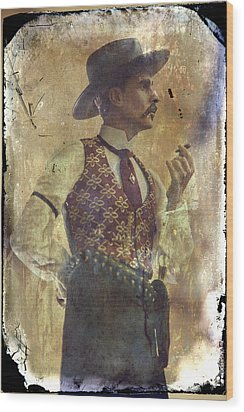 Gunslinger IIi Doc Holliday In Fine Attire Wood Print by Toni Hopper
