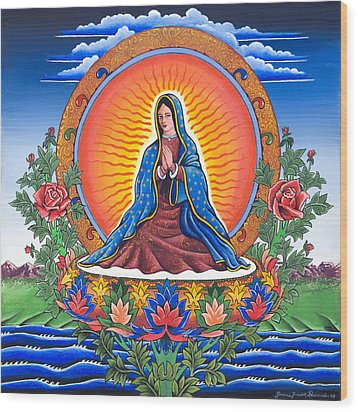 Guru Guadalupe Wood Print by James Roderick
