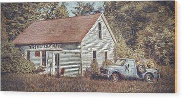 Gus Klenke Garage Wood Print by Scott Norris