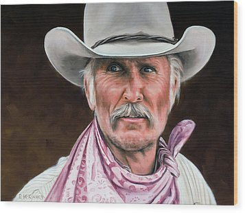 Wood Print featuring the painting Gus Mccrae Texas Ranger by Rick McKinney